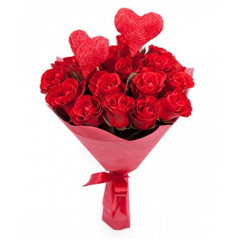 Букет для любимой на день святого Валентина