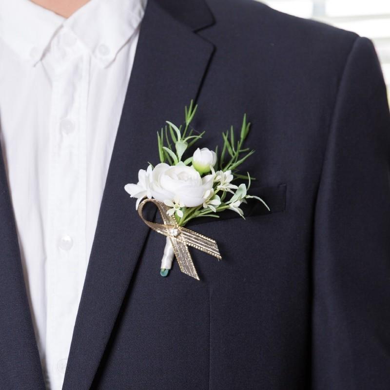 бутоньерка на свадьбу жениха и невесты